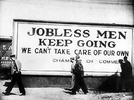 Jobless men keep going. We can't take care of our own. image